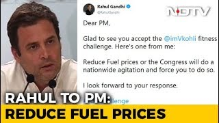 Here's One From Me, Says Rahul Gandhi, Throwing #FuelChallenge At PM Modi - NDTV