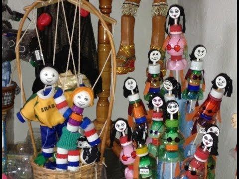 Brinquedos com Tampas de Garrafas Plásticas