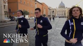 Vatican Launches Official Track Team | NBC Nightly News - NBCNEWS