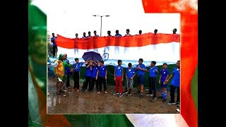 Patriotic! Boxers honour giant national flag on rain swept Independence Day in Visakhapatnam - TIMESOFINDIACHANNEL