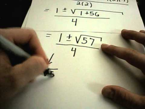 Solving Quadratic Equations - Factoring and Using the Quadratic Formula -6edth-ZEpKo
