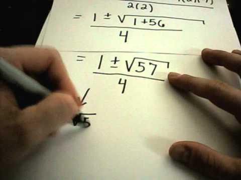 Solving Quadratic Equations - Factoring and Using the Quadratic Formula -6edth-ZEpKo