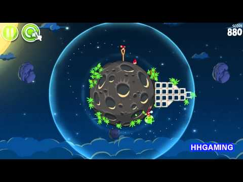 Angry Birds Space - Walkthrough 1-3 3 stars Pig Bang level guide how to get three star levels