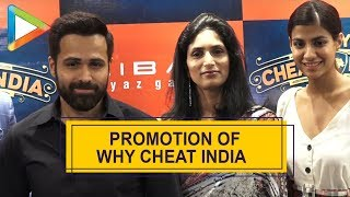 Emraan Hashmi & Shreya Dhanwanthary hosting a media event for Why Cheat India - HUNGAMA
