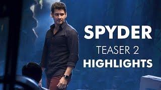 SPYDER Teaser 2 Highlights || Mahesh Babu || AR Murugadoss || #Spyder  || Rakul Preet - IGTELUGU