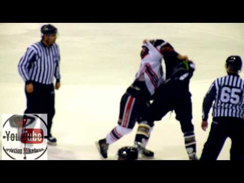 hockey fight Tremblay vs Lecompte 14 avril 2014 LNAH