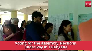 Telangana Elections: Actor Chiranjeevi casts his vote - TIMESOFINDIACHANNEL