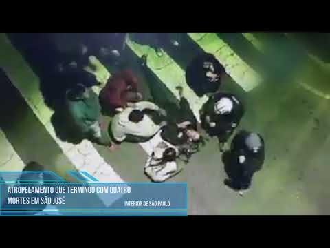 Video mostra atropelamento de 4 jovens em São José