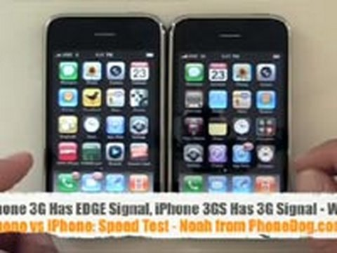 iPhone 3GS vs iPhone 3G Speed Test