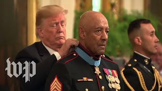 Trump awards Medal of Honor to Vietnam War veteran - WASHINGTONPOST