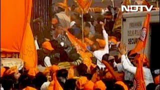 विराट धर्म सभा में दिखा अफरातफरी का माहौल - NDTVINDIA