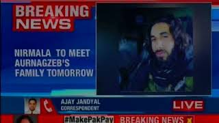 Defence Minister Nirmala Sitharaman to meet Aurangzeb's family in Mendhar tomorrow - NEWSXLIVE