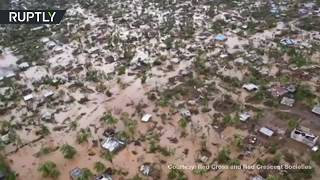 Aerial footage shows scale of deadly devastation caused by cyclone Idai in Mozambique - RUSSIATODAY