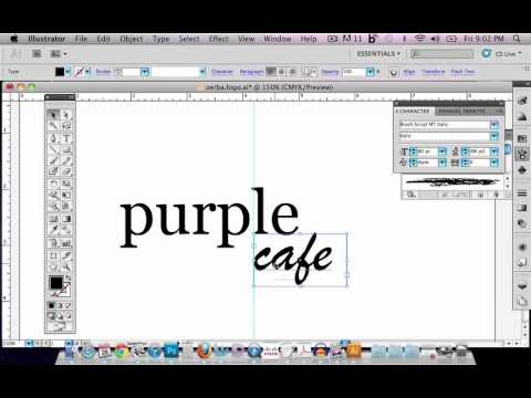 Designing a logo in Illustrator CS5