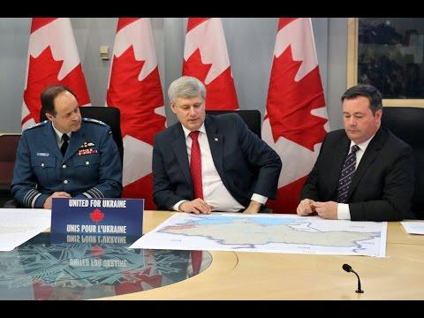 PM Harper annonce déploiement militaire en Ukraine