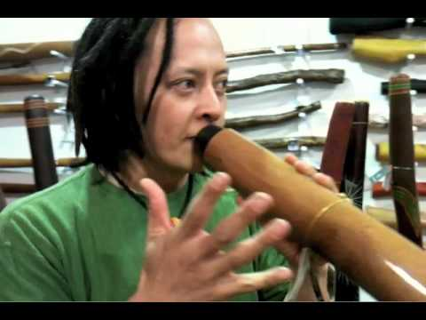 How to play didgeridoo - Sanshi teaches us a rhythm from Chikyu