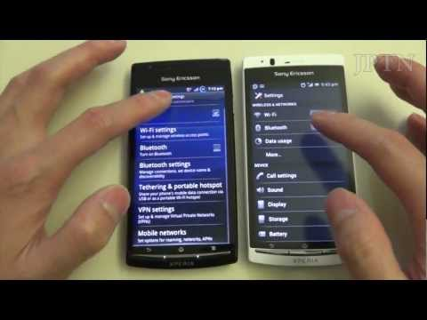 Sony Xperia Ice Cream Sandwich Beta Walkthrough and Comparison with Gingerbread