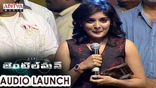 Niveda Thomas Beautiful Speech At Gentleman Audio Launch     Nani, Surabhi - ADITYAMUSIC