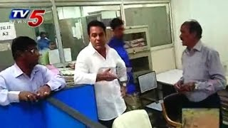 KTR Surprise Visit in Telangana Secretariat : TV5 News - TV5NEWSCHANNEL