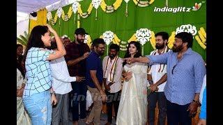 Sai Dharam Tej's brother Vaishnav Tej debut movie launch   Chiranjeevi   Allu Arjun - IGTELUGU