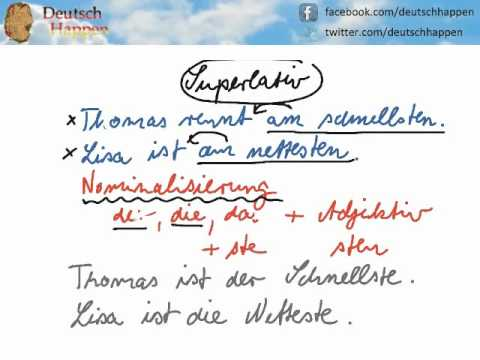 Learn German Grammar with Deutsch Happen - Superlative 2