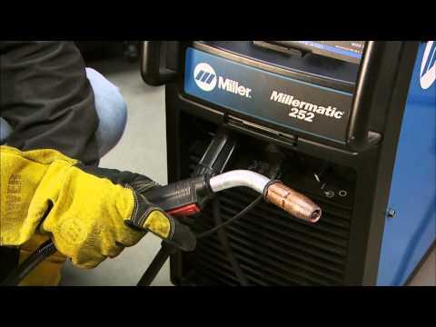 Millermatic® 252 MIG welder run-in