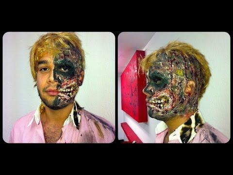 Two face Harvey Dent halloween makeup