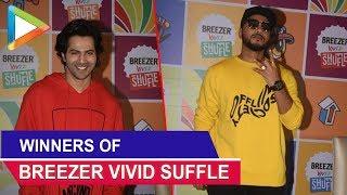CHECK OUT: Varun Dhawan & Raftaar Announcing winners of Breezer Vivid Suffle season 2 - HUNGAMA