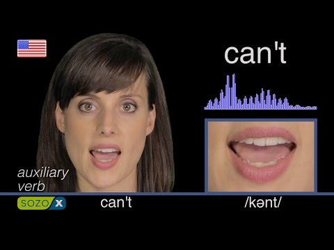 CAN'T [weak form]  Improve English Pronunciation  pronunciacin de Ingls 