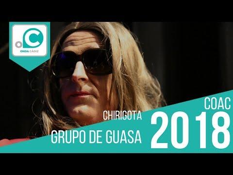 Sesión de Cuartos de final, la agrupación Grupo de Guasa actúa hoy en la modalidad de Chirigotas.