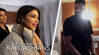 Kim And Tristan Thompson Come Face To Face In Khloe's Delivery Room | KUWTK | E! - EENTERTAINMENT