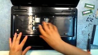 Как разобрать и почистить ноутбук Toshiba satellite L670 (Toshiba satellite L670 disassembly)