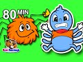 Itsy Bitsy Spider, Incy Wincy Spider & More | 80 Mins Nursery Rhyme Compilation | Baby Kids Songs