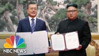 Leaders Of North And South Korea Pledge To Create A Nuclear-Free Peninsula | NBC News - NBCNEWS