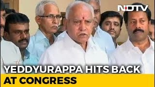 BS Yeddyurappa, Accused Of Rs. 1,800 Crore Payoffs, Hits Out At Congress - NDTV