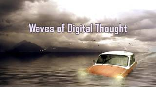 Royalty FreeBackground:Digital Waves of Thought
