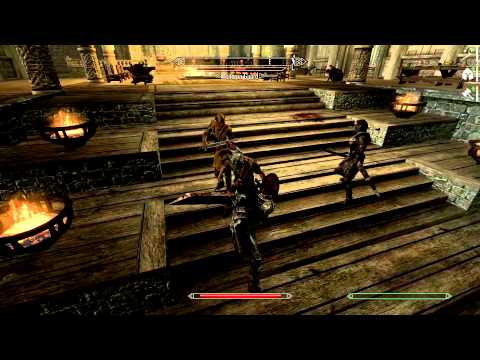 Skyrim: Max settings 60 fps gameplay on Youtube (at 2x speed)