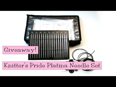 Giveaway!  Knitter's Pride Platina Interchangeable Needle Set
