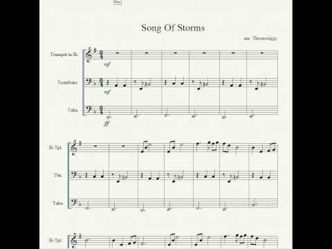 Loz Song Of Storms Piano Sheet Music - zelda ocarina of time ...