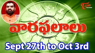 Vaara Phalalu | Sept 27th to Oct 3rd 2015 | Weekly Predictions 2015 Sept 27th to Oct 3rd - TELUGUONE