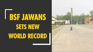 BSF jawans sets new world record in motorcycle riding - ZEENEWS