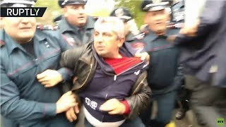RAW: Armenian protesters detained at rallies against appointment of former President as PM - RUSSIATODAY