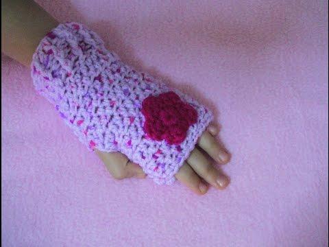 Πλεκτα Γαντια (χωρις δαχτυλα) / Crochet Fingerless Gloves Tutorial