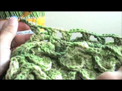 Crochê - Tapete Barroco em Ponto Escama - Parte 07/09