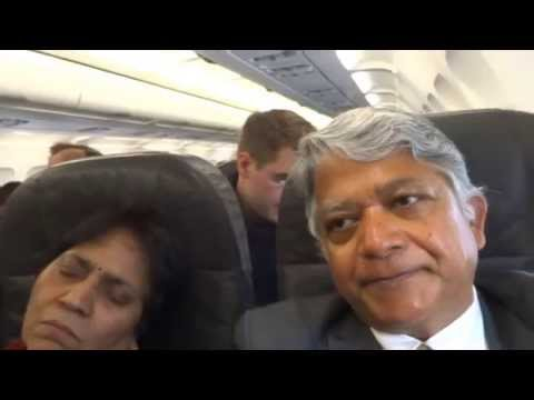 Aruna & Hari Sharma in Swiss Sir Flight LX1250 from Zurich to Arlanda Stockholm, Apr 05, 2014