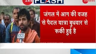 IAF deploys helicopters to douse blaze around Trikuta Hills fire; Vaishno Devi yatra suspended - ZEENEWS