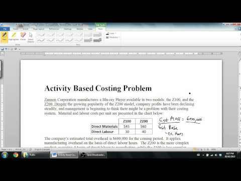 Activity Based Costing Part 2 - Management Accounting