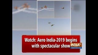 Watch: Aero India-2019 Begins With Spectacular Show - INDIATV
