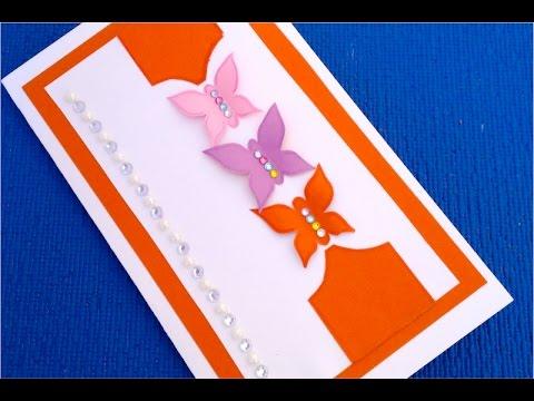 Как сделать самую простую открытку на день рождения 8