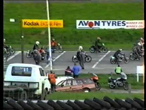 BSA C15 and Vincent HRD Cadwell Park old home movie